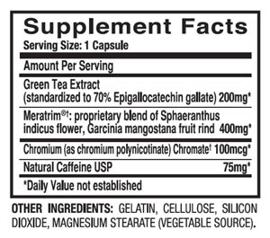 leptigen supplement facts and ingredients