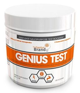 GENIUS TEST - The Smart Testosterone Booster, Dynamic Natural Energy Supplement
