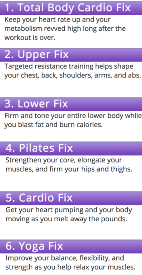 21 day fix exercise plan