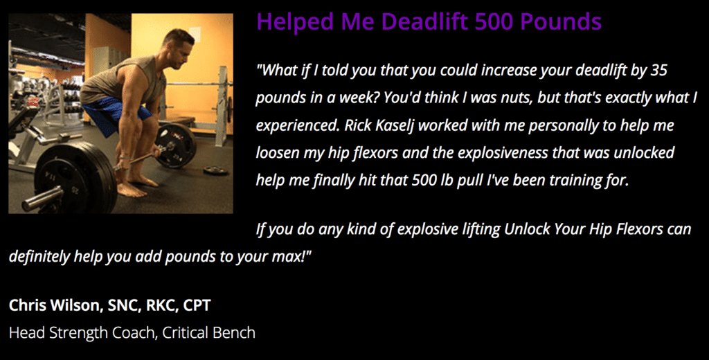 testimonial for unlock your hip flexors program