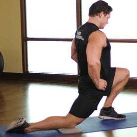 hip flexor strech kneeling