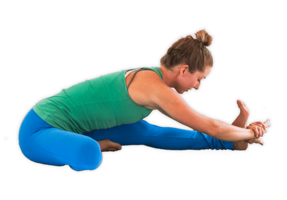 head to knee strech for tight hip flexors