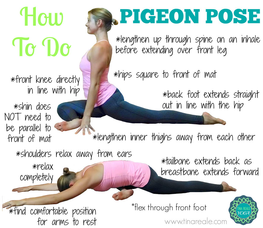 pidgeon pose yoga to fix tight hip flexors