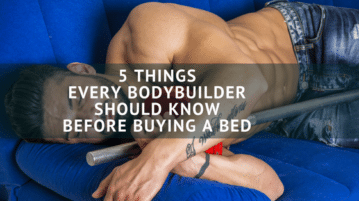 Bodybuilder buying bed