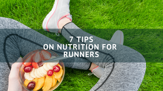 Runner eating nutritious food